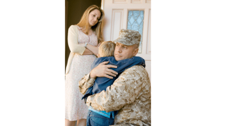 Child custody arrangement in military divorce.